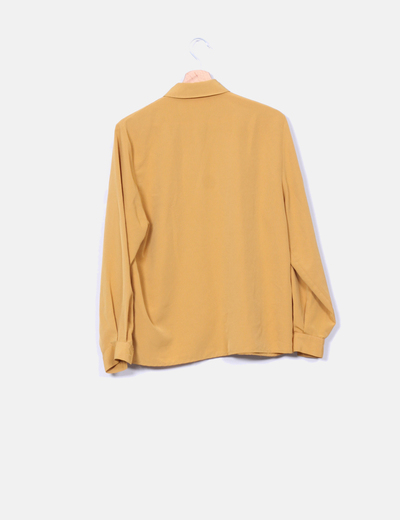 Camisa saten mostaza