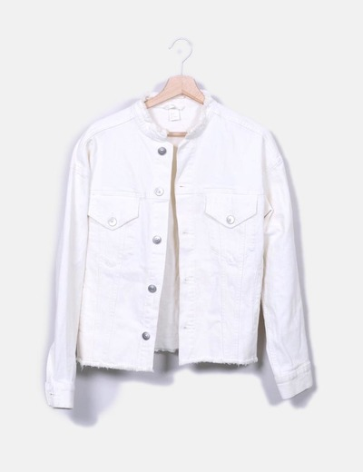 H M White Denim Jacket Discount 34 Micolet