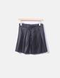 Falda negra plisada Primark