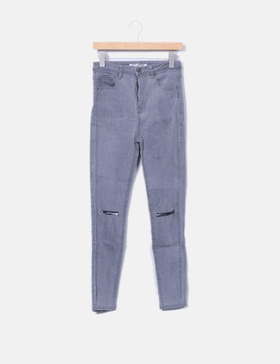 Jeans denim gris Pull&Bear