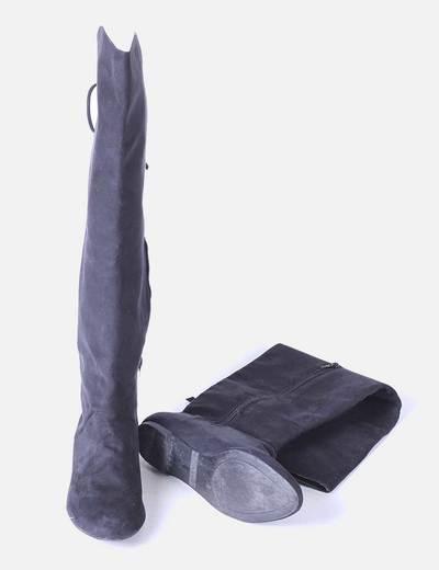 Botas corsario antelina negro