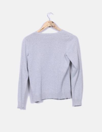 Cardigan tricot gris glitter