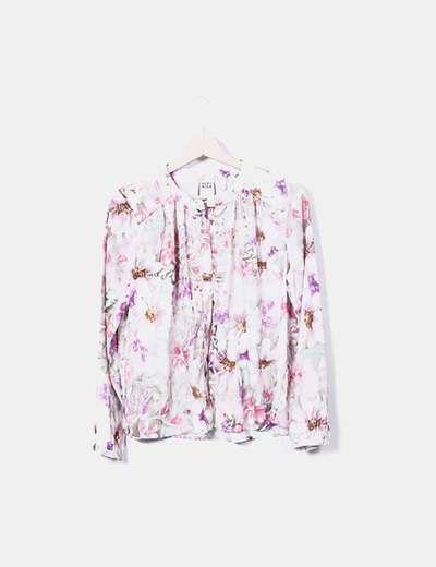 Beige floral print shirt Vero Moda
