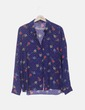 Camisa azul print floral Primark