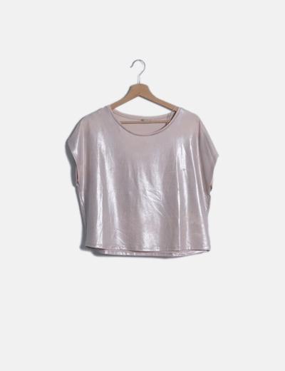 Blusa rosa metalizada