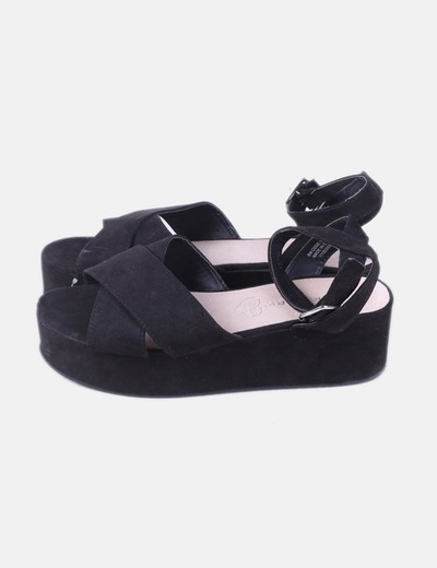 Sandales noires plate-forme de Marypaz