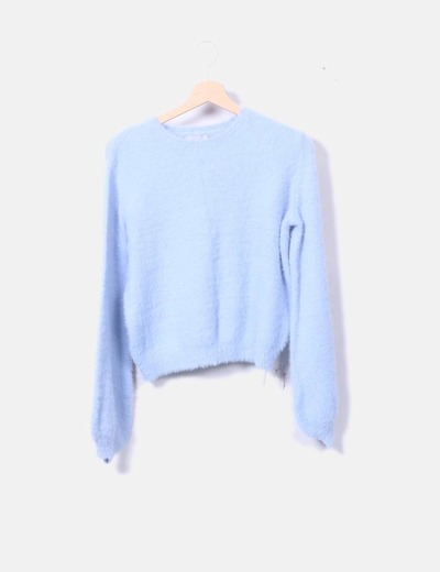 Jersey tricot azul bebé