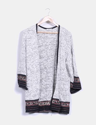 Kimono tricot Bershka
