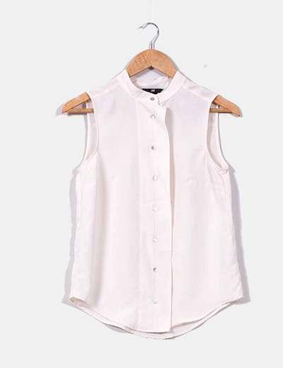 Camisa beige sin mangas H&M