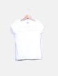 T-shirt blanc à encolure plissée Fórmula Joven