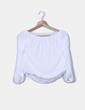 Blusa blanca hombro descubierto NoName