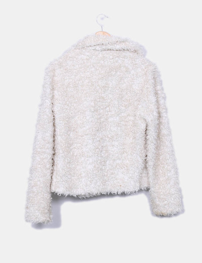 Abrigo rizo blanco