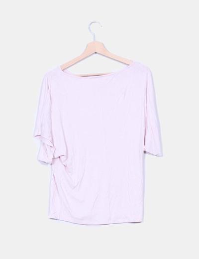 Top rosa palo oversize