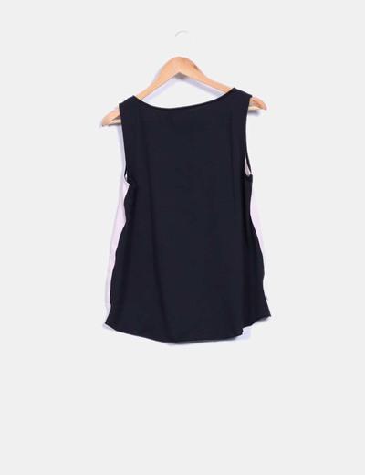 Blusa combinada print minino