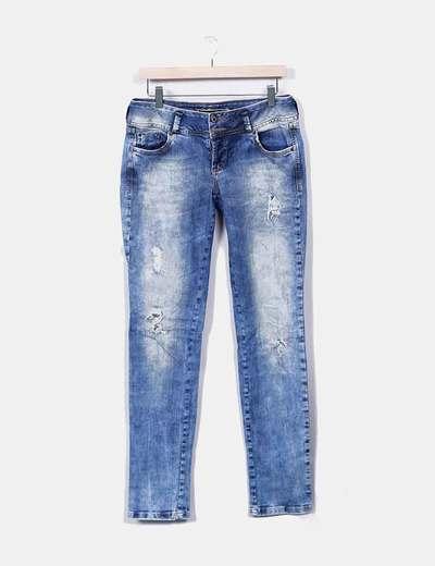 Jeans vaquero con pailettes Colcci