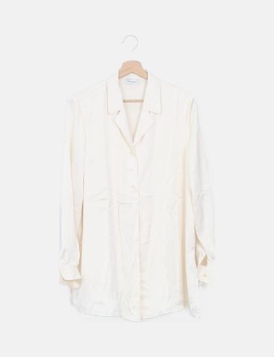 Blusa beige fluida manga larga