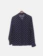 Camisa azul marino estampado Pull&Bear