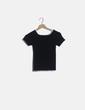 Camiseta negra elástica canalé Sandro Paris