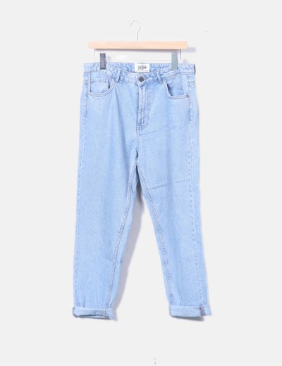 Jeans mom azul claro