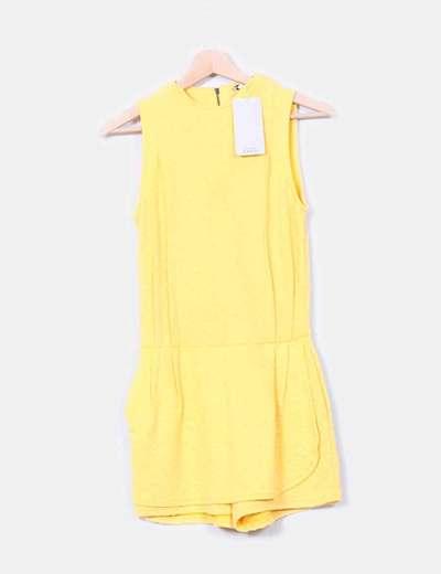 Mono texturizado amarillo  Zara