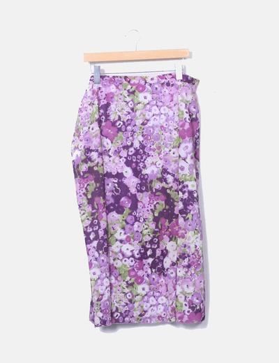 Jupe rose et de violette florale El Corte Inglés