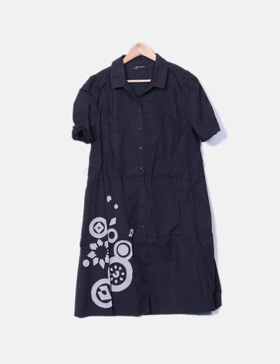 Vestido camisero TRS