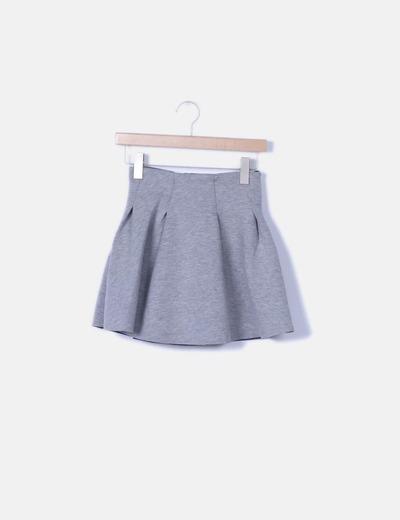 Minifalda gris jaspeada