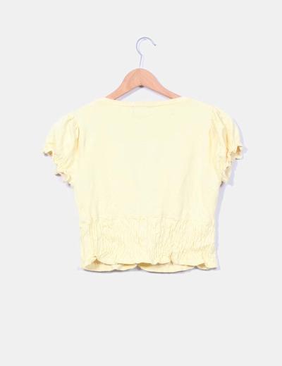 Torera de punto amarilla