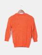 Chaqueta tricot naranja manga francesa hilos glitter Zara