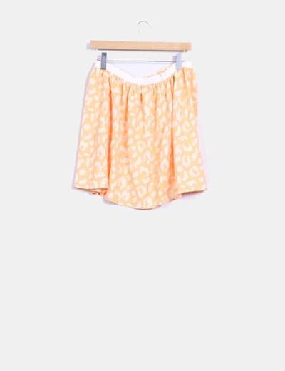 Mini falda vuelo naranja fluor