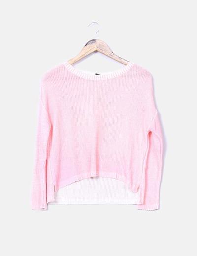 Jersey rosa flúor tail hem