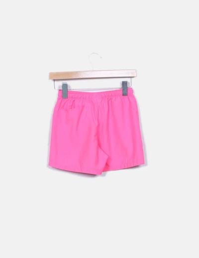 Shorts sport rosa fluor