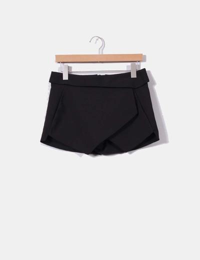 Falda pantalón negra Zara