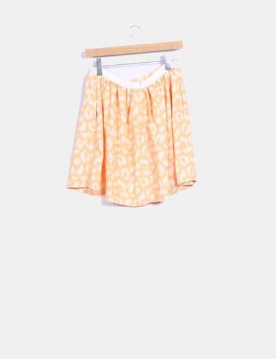 Falda fluor naranja