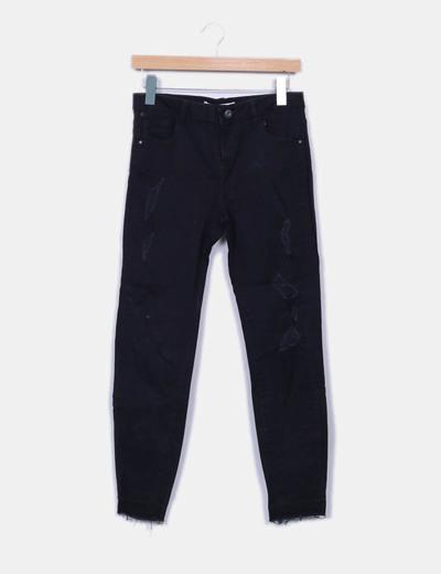 Pantalon negro ripped Lefties