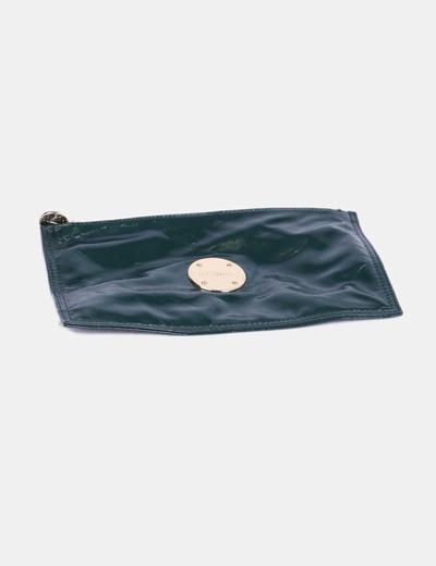 Bolso de mano verde acharolado Uterqüe