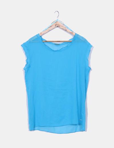 Blusa azul cielo semitransparente Skunkfunk