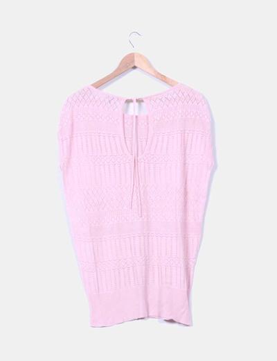 Jersey rosa troquelado