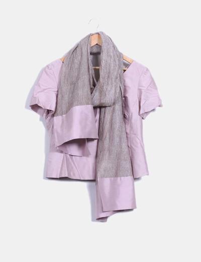 Conjunto tres piezas, falda corpiño y chal Simorra