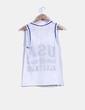 Camiseta blanca de rejilla print Atmosphere