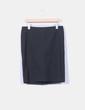 Falda negra  midi Benetton