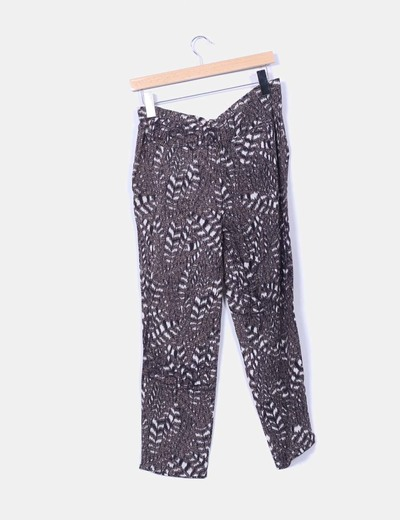 Pantalon baggy estampado cierre lateral