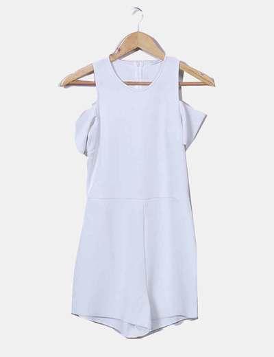 Combinaison blanche épaules nues Zara