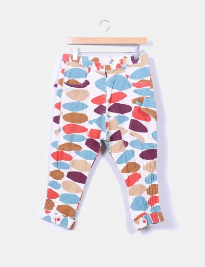 Pantalon baggy estampado multicolor