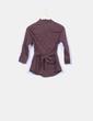 Camisa marrón con cinturón Almatrichi