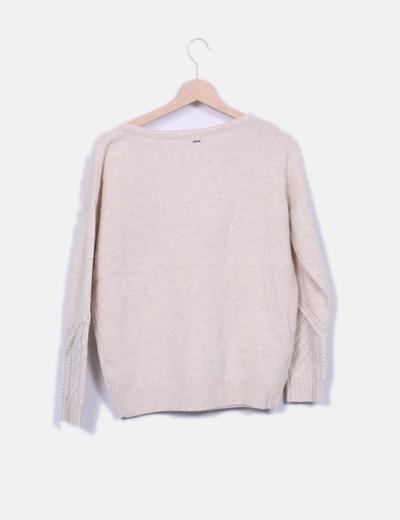 Jersey lana beige