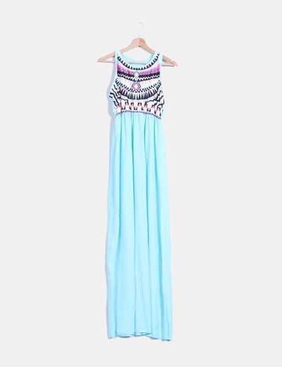 Maxi vestido estampado étnico  NoName