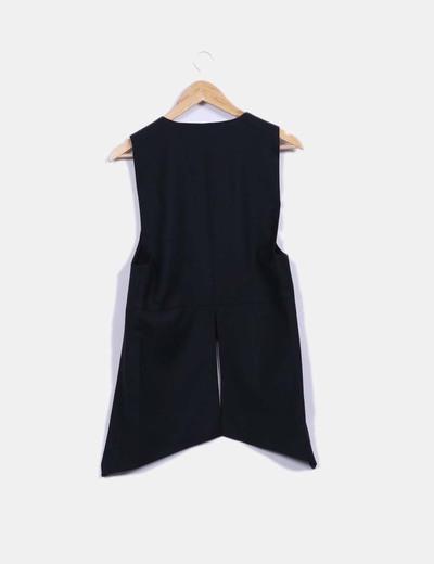 Chaleco largo traje negro