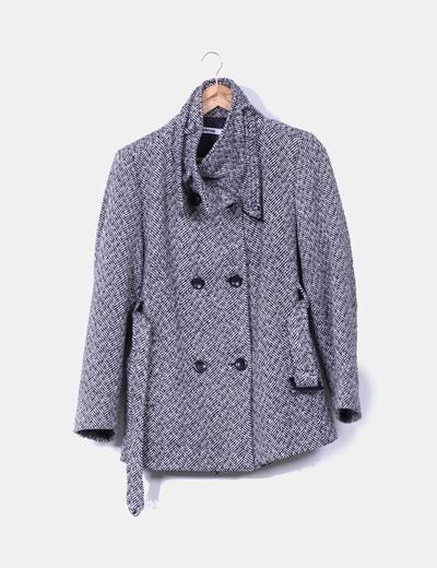 Abrigo bicolor doble botonadura Pleno