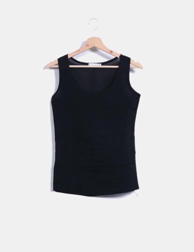 0d0f33936faa8 Liva Girl Blusa negra sin mangas básica (descuento 78%) - Micolet